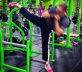 Part of my core training. Yes, I am using the squat rack--super sets of squats/core