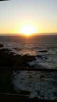 Sunset on coast of Chile