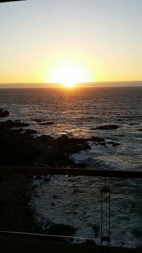 Sunset on coast of Chile